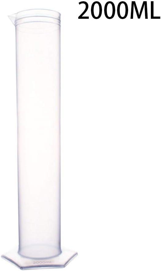 Size : 2000ml JIANFEI LIANG 2000 Ml Probeta De Pl/ástico Transparente Cilindro Graduado De La Escuela Laboratorio De Qu/ímica Herramientas Suministros del Laboratorio De Ciencias