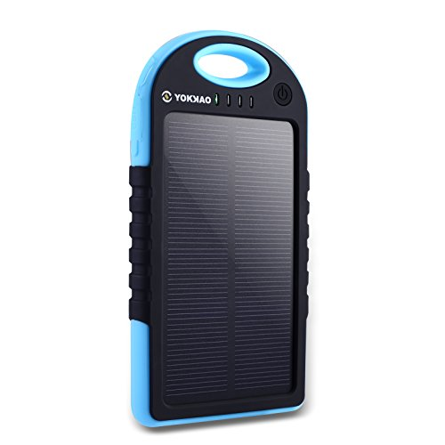 Waterproof 50000mAh USB Solar Charger Power Bank (Black) - 6