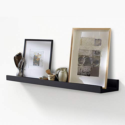 - AHDECOR Picture Ledge Shelf Black Wall Mounted Floating Shelves Display Storage Ledge for Home Kitchen Office Decoration, 36 inch, 1-Pack