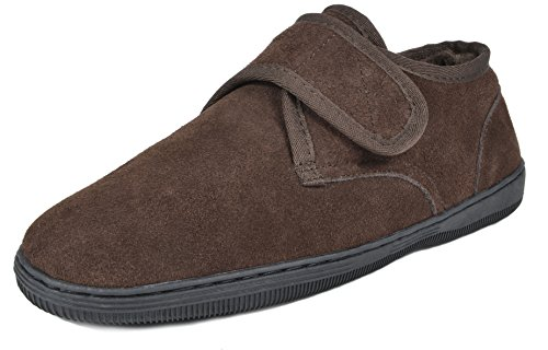 Slippers Dreams (DREAM PAIRS Men's Fur-Loafer-03 Brown Suede Slippers Loafers Shoes Size 10 M US)