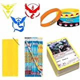 pokemon party favor loot bags with pencils, bags, stickers and card