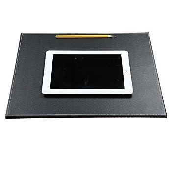 KINGFOM™ Sottomano da scrivania in Pelle Ultra Liscio, per Documenti A3/A4 , 60 x 45 cm , Colore Nero