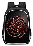 House Targaryen Game of Thrones Pattern Backpack School Bag Bookbag Laptop Bag Hiking Daypack