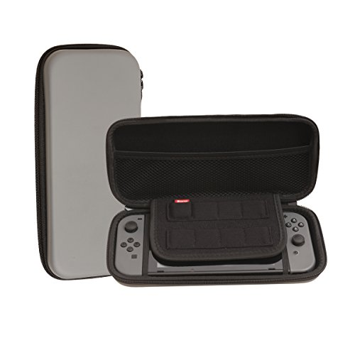 Nintendo Switch Travel Carrying Case by HAO HONG| Holds 8 Video Game Cards, 2 Joy-Con Controllers | Water, Scratch, Dust and Shock Proof Protective Storage (Grey) For Sale