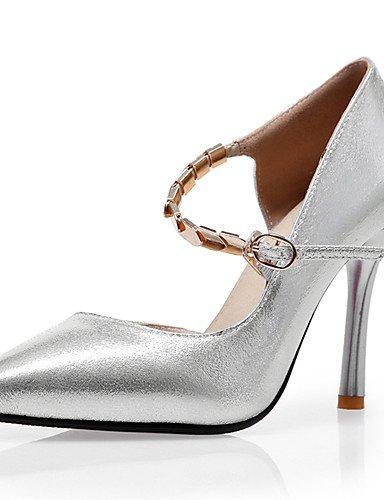 GGX/ Damen-High Heels-Kleid / Lässig / Party & Festivität-PU-Stöckelabsatz-Absätze / Spitzschuh-Rot / Silber / Gold golden-us8.5 / eu39 / uk6.5 / cn40