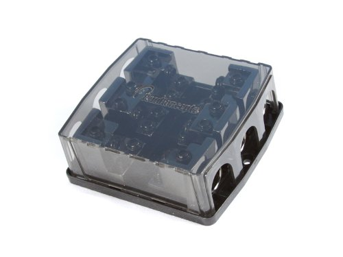 KnuKonceptz KNF-60 2 Way 0 Gauge Power AND Ground Distribution Block 0 / 4 Gauge Out