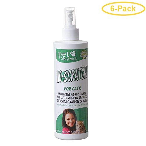 Pet Organics No-Scratch Spray for Cats 16 oz - Pack of 6 by Pet Organics