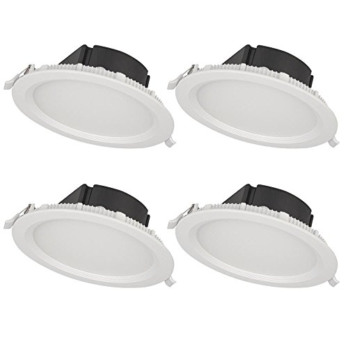 Recessed Trim Matt - Bazz SLMTB4W4 Slim Recessed LED Light Fixture, Matte White, 4 Piece