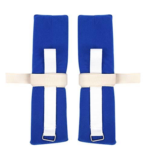 SUPVOX 4PCS Wrist Ankle Hand Restraint Limb Holder Cuff Strap for Hospital Patient Positioners (Blue) ()