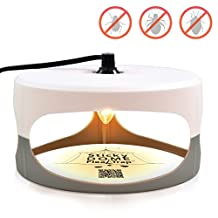 Aspectek Flea Trap, Trapest Sticky Dome Flea Bed Bug Trap with 2 Glue Discs. Odorless Non-poisonous and Natural Flea Killer Trap Pad, Family, Children and Pets Friendly, Best Pest Control