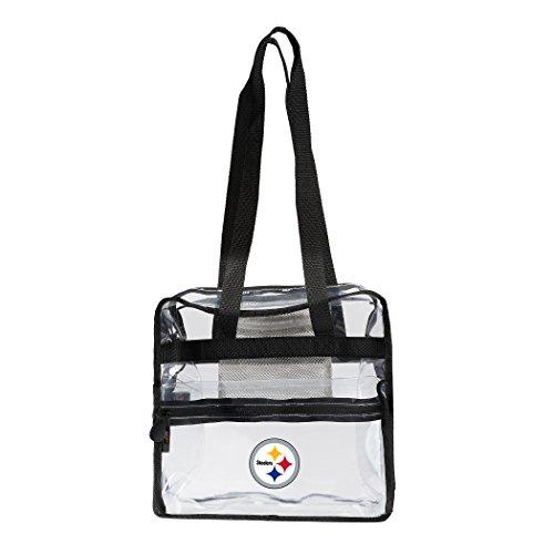 Nfl Pittsburgh Steelers Stadium - The Northwest Company NFL Pittsburgh Steelers Zone Stadium Friendly Tote Clear Zone Stadium Friendly Tote, Clear, One Size