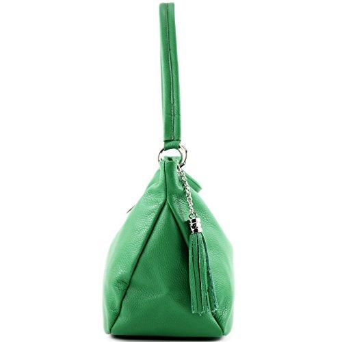 Genuine Leather Bag Shoulder modamoda Case de Bag Green T154 Shoulder ital Leather Ew8wA