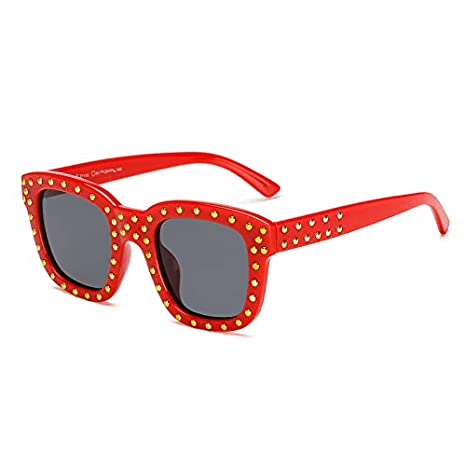 HUBINGRONG - Gafas de Sol polarizadas para Mujer, diseño a la Moda, diseño Cuadrado, Cuello Redondo, Coloridas 3: Amazon.es: Hogar