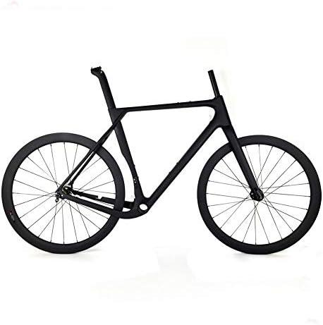 TQ Cuadro y Juego de Ruedas de Bicicleta de Grava de ciclocross de Carbono Juego de Cuadros de Bicicleta de Carretera con Freno de Disco de Carbono T1000,52cmthruaxle: Amazon.es: Deportes y aire