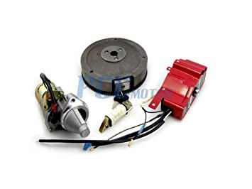Amazon 18lfrb gx340 gx390 electric start kit starter motor 18lfrb gx340 gx390 electric start kit starter motor flywheel switch st19 sciox Gallery