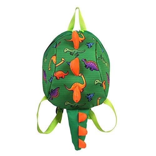 Lyperkin N-23 - Bolso de Hombro Doble para niños y bebés, diseño de Dinosaurio en 3D, Verde