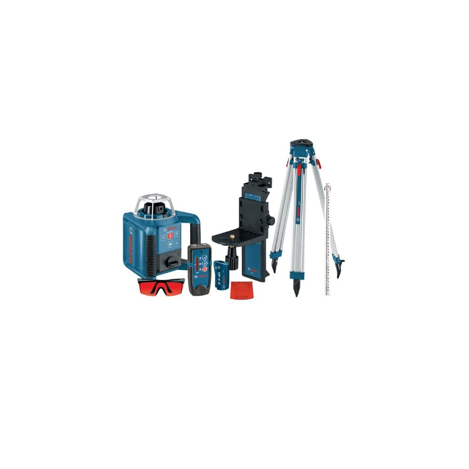 Bosch GRL300HVCK Self Leveling Rotary Laser with Layout Beam Complete Kit with Receiver, Remote, Tri pod and Wall Mount
