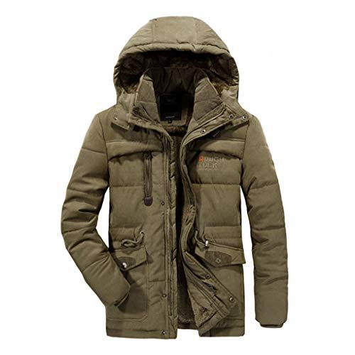 Militaire À Brown 7xl Taille Avec Pour Hyvaluable Manteau Costumes Hommes Décontracté couleur Brown Vestons Capuche Décontracté Et Amovible Épais WqWgIP