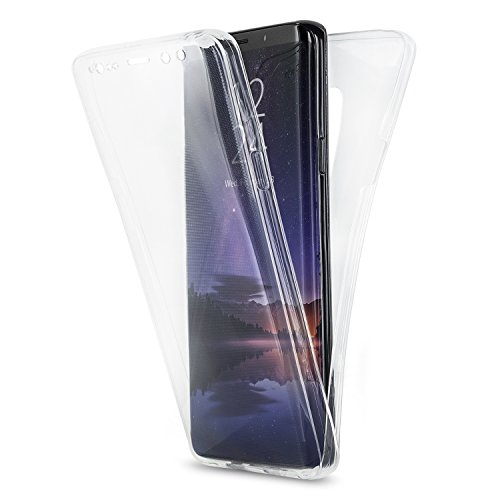 Olixar Samsung Galaxy S9 Plus Slim Clear Case - Soft Gel Cover - 360 Degree Full Body Protection - 100% Transparent Clear Case - Ultra Thin - Front + Back Protection FlexiCover - Clear