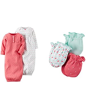 Baby Sleepbag and Mitten Layette Gift Set