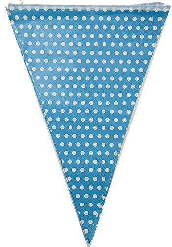 Silver Polka Dot Card Bunting Flag Banner 3 metre