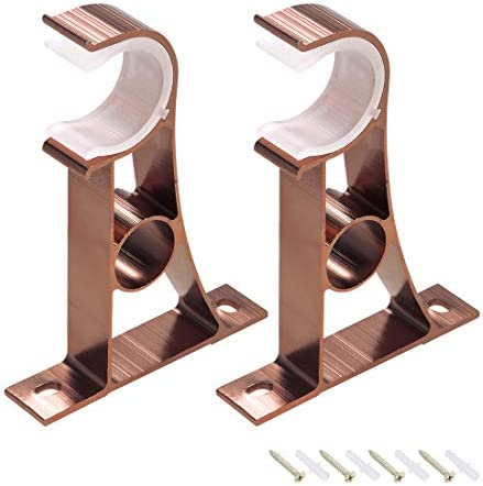 TUOREN Adjustable Curtain Rod Brackets Bronze Tone for 22mm Rod-2pcs