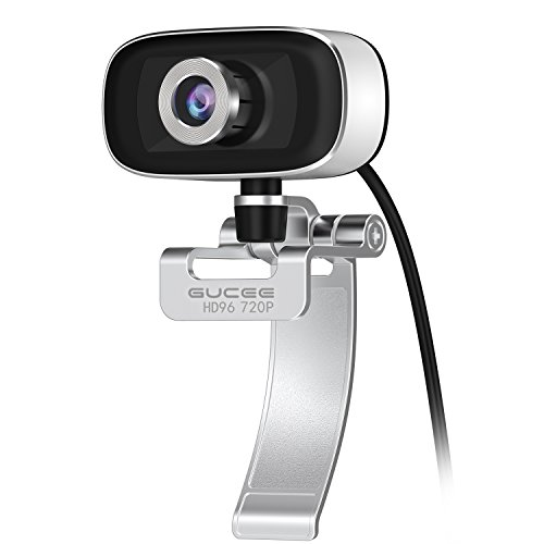 GUCEE HD96 720P HD Webcam with Tripod Ready Base (Tripod Not Included), Web Camera HD Microphone Wide Angle USB Plug and Play, Widescreen Calling Recording for Skype, Win 7 / 8 / 10, Apple Mac OS X by iRush