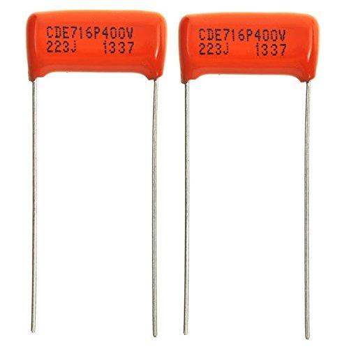 Pair (2X) - .022 uf/400 v Orange Drop Capacitors