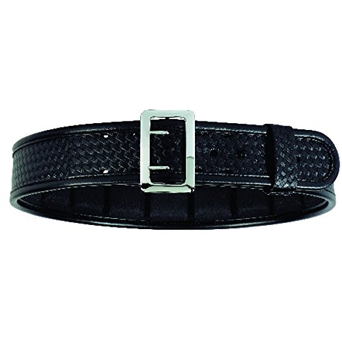 Sam Browne Belt Chrome Buckle (Bianchi 7960 BSK Black Sam Browne Belt with Brass Buckle (Size 46))