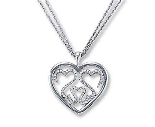 Beautiful and Lovely Items Jane Seymour Open Hearts Triple Hearts Necklace