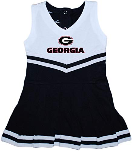 University of Georgia UGA Bulldogs Baby and Toddler Cheerleader Bodysuit Dress -