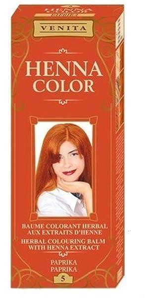 Henna Color 5 Pimiento Bálsamo Capilar Tinte Para Cabello ...