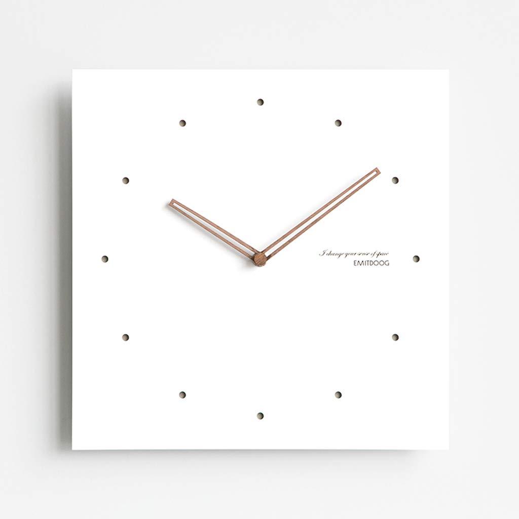 正方形の壁時計は静かに現代の壁時計家の装飾の壁のチャートをスキャンします JSFQ (Color : B, Size : 38cm×38cm) B07TNXMMP1 B 38cm×38cm