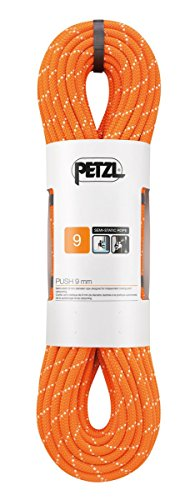 PETZL - Push 9 mm, Rope Designed for Independent Caving and Canyoning, Orange from PETZL