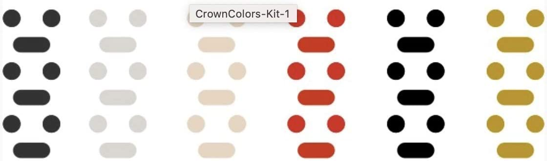 Crown Colors (Black, Grey, Rose, Red, Space, Gold) Customize Your Watch Crown with Colors for Your Apple Watch Crown dial