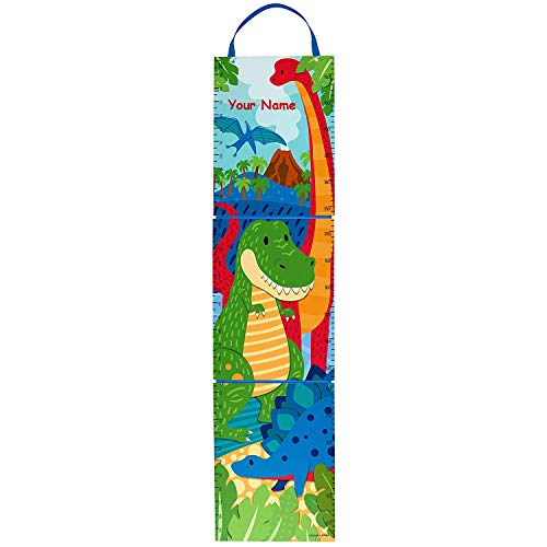 Personalized Dinosaur Prehistoric Keepsake Milestone Measuring Growth Chart for Boys and Girls with Custom Name - 5 Feet