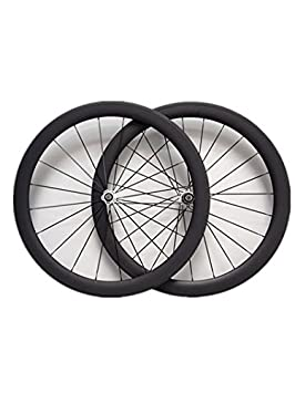 YouCan bicicleta 700 C ruedas de carbono 50 mm Clincher para bicicleta de carretera delantero y trasero, 25mm: Amazon.es: Deportes y aire libre