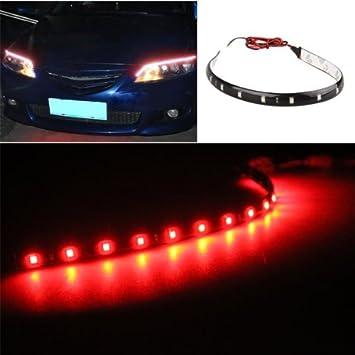 4 X Bande Eclairage Flexible Lampe 12V 15 LEDs Etanche 30x1cm