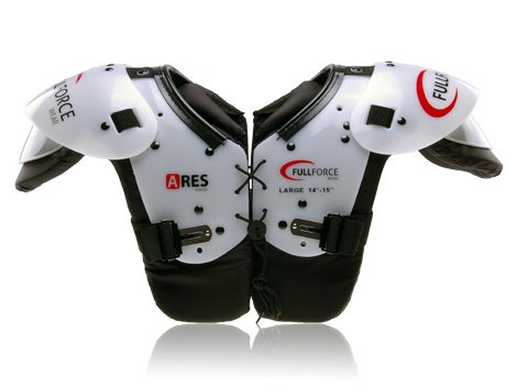 Full Force Ares Youth Speed Position American Football Shoulder Pad QB/WR/Skill, Schwarz, M, FF0202042110