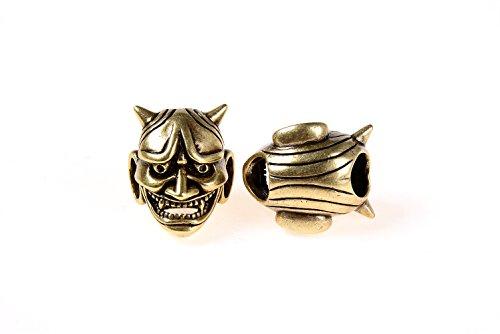 GOODBEAD 1pc Antique Finish Bronze/Silver Japanese Noh Mask Large Hole Spacer Bead| DIY Necklace, Choker, Bracelet | 19x16mm