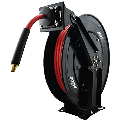 Milton 2760-50D - Steel Dual Arm Auto-Retractable Air Hose Reel, 3/8