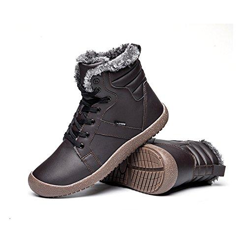 Caviglia A Completamente Donna Antiscivolo Scarpe neve Uomo Impermeabile KEALUX grigio Foderato Pelliccia Con Inverno Stivali La 6TIP4qAwx