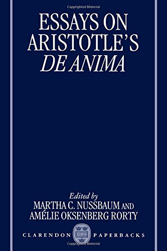 Essays on Aristotle's De Anima (Clarendon Aristotle)