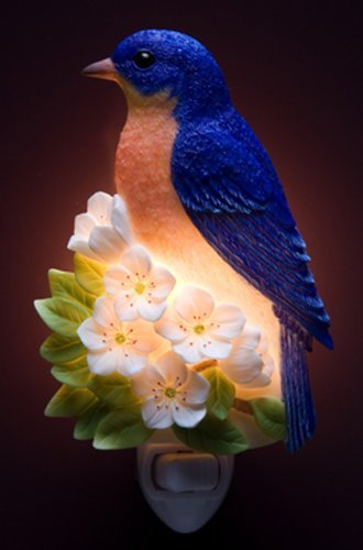 Bluebird on Cherry Night Light