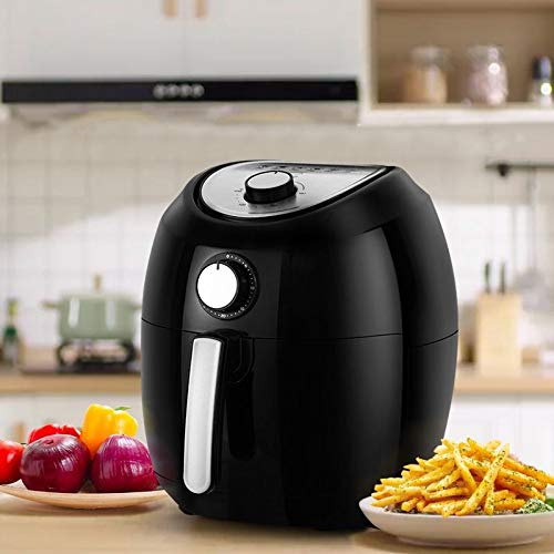 Air Fryer, 5.8 Quarts Air Fryers w/Accessories Cookbook, Grill Rack and Tongs Black by Fereol (Image #4)