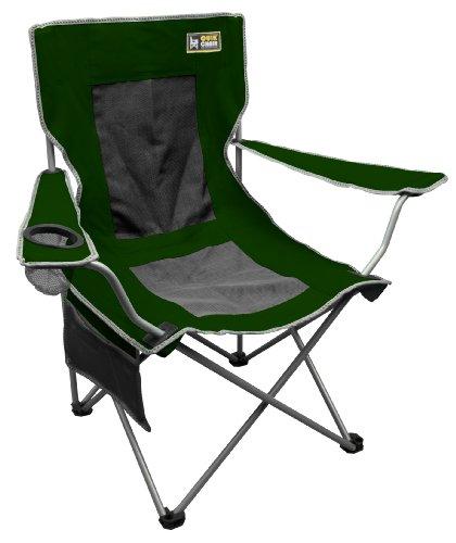 Quik Chair Folding Quad Mesh Camp Chair - Forest Green