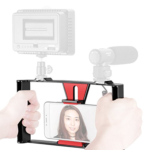 Cheap Stabilizers Neewer Smartphone Video Rig, Filmmaking Recording Vlogging Rig Case, Handheld Grip Stabilizer..