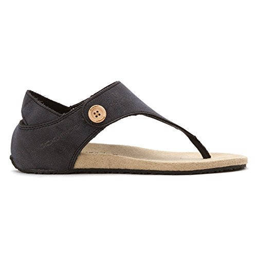 Bearpaw Womens April Fisherman Sandal, 6 B (m) Us, Black Ii