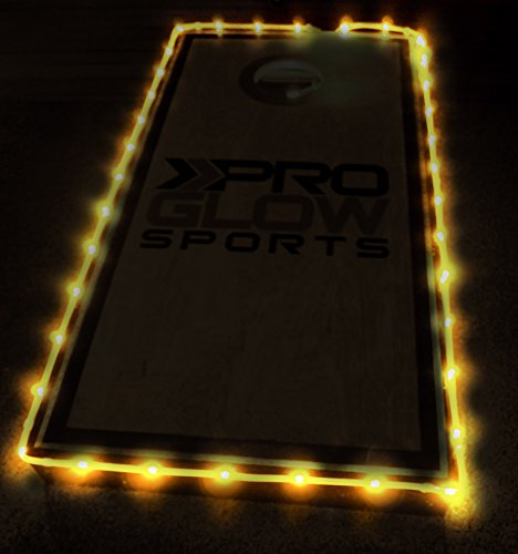 Pro Glow Cornhole Lights (Yellow) (Auburn 2 Light)