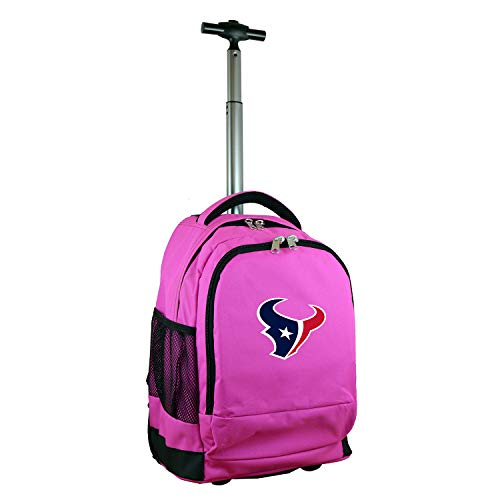 Denco NFL Houston Texans Expedition Wheeled Backpack, 19-inches, Pink
